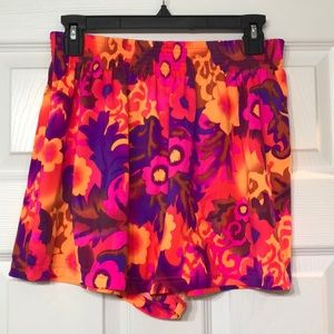 Neon psychedelic shorts